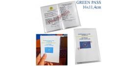 1 PORTA GREEN PASS TRASPARENTE A SACCO 16x11,4cm