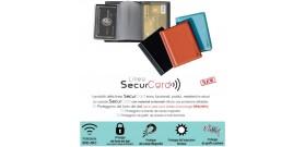 1 PORTA SECURCARD RFID/NFC CASTOR 5 TASCHE 10x8,5cm