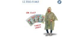 IMPERMEABILE ADULTO CON CAPPUCCIO TAGLIA UNICA 4c.