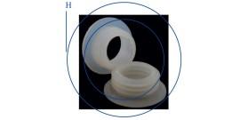 2 GUARNIZIONI xNARGHILE 45cm °5,7x°4xH2cm