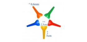 100 BOCCAGLI/FILTRI xNARGHILE PLASTICA COLOR °0,6x2,5x5cm