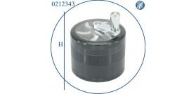 1 GRINDER METALLO TONDO C/MANICO CROMO NERO 4sc.°6x5cm