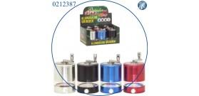 1 GRINDER METALLO TONDO C/MANICO CROMO 5sc.°6x8cm 4col.