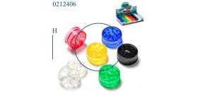 1 GRINDER PLASTICA TONDO 6c. 2sc.°3x1,5cm CONEY