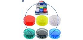 1 GRINDER PLASTICA TONDO 3sc.°6x2,4cm 6c. ATOMIC