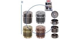 1 GRINDER METALLO TONDO MAGNETICO 4c.4sc.°4,5xA4,5cm ATOMIC