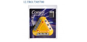 9LED EMERGENZA CONEY TRIANGOLO MAGNETE 14x14cm(3xAAAincl.)x1