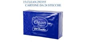 FAZZOLETTI CLEAN PAPER WHITE 4veli 24sx6px9f CT