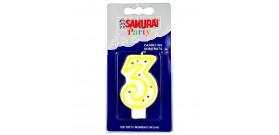 CANDELA COMPLEANNO SAMURAI n.3