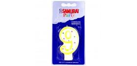 CANDELA COMPLEANNO SAMURAI n.9