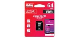 MICRO SDHC UHS-I 64GB CLASSE 10+ADATTATORE GOODRAM©