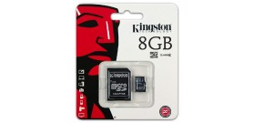MICRO SDHC 8GB+ADATTATORE CLASSE 4 KINGSTON SCHEDA MEMORIA