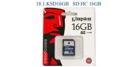 SD HC 16GB CLASSE 4 KINGSTON