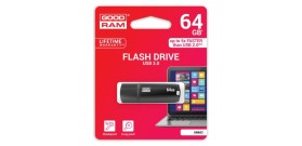 USB 3.0 FLASH DRIVE 64GB BLACK GOODRAM©