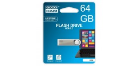 USB 2.0 FLASH DRIVE 64GB SILVER GOODRAM©