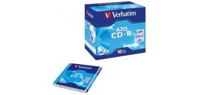 10 CD-R VERBATIM 700MB 52x JEWEL CASE 43327