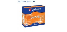1 DVD-R VERBATIM 4.7GB 16x 120min. JEWEL CASE
