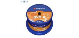 50 DVD-R VERBATIM 4.7GB 16x 120min. campana
