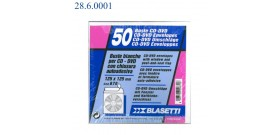 BUSTINE CD/DVD 13x13 CARTA BIANCA ADES.BLASETTI 670 x50