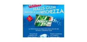 HALLS GUM ASTUCCINO ICERUSH SPEARMINT S/Z E1 VERDE 18gr 16pz