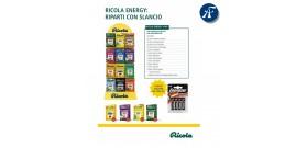 ESPOSITORE RICOLA ENERGY 140pz + 6 BL AA ENERGIZER OMAGGIO