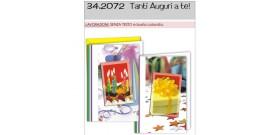 BIGLIETTO AUGURALE 11,5x17 AUGURI S/TESTO A TE 2s.