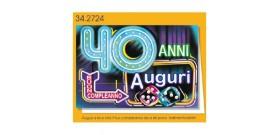 1 BIGLIETTO AUGURALE 11x17 B.C.40 ANNI LUMINOSI 1s.
