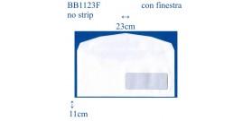 500 BUSTE BIANCHE 11x23 CON FINESTRA (NO STRIP) OFFERTA