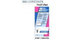 BUSTA BIANCA 11x23 C/FINESTRA STRIP cod.551 x25