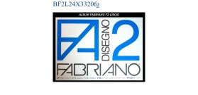 ALBUM FABRIANO F2 LISCIO 24x33mm 110gr 20fg