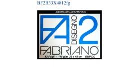 BLOCCO FABRIANO F2 RUVIDO 33x48mm 110gr 12fg