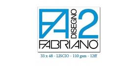 BLOCCO FABRIANO F2 LISCIO COLLATO 33x48mm 110gr 12fg