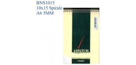 10 BLOC NOTES SPIRALE ARISTON 10x15 A6 5MM 60fg BLASETTI1086