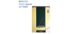 10 BLOC NOTES SPIRALE ARISTON 15x21 A5 5MM 60fg BLASET.1087