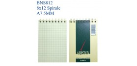 BLOC NOTES SPIRALE ARISTON 8x12 A7 5MM 60fg BLASETTI 1085x10