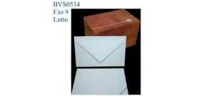 BIGLIETTI/BUSTE LUTTO 100 B+F ANGOLO FT.9 9x14cm