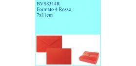 BIGLIETTI/BUSTE COLOR 100 B+F VISITA FT.4 ROSSO 7x11