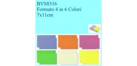 BIGLIETTI/BUSTE COLOR2 100 B+F VISITA FT.4 5 col. 7x11
