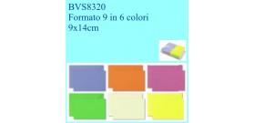 BIGLIETTI/BUSTE COLOR2 100 B+F VISITA FT.9 6 col. 9x14