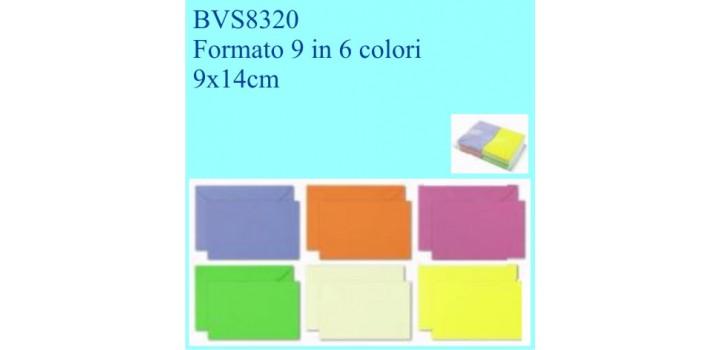 100 BIGLIETTI/BUSTE COLOR2 VISITA F.TO 9 6col. 9x14cm