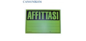 CARTELLI AFFITTASI FLUORESCENTI 33x23cm COL.ASS.x25