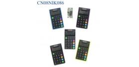 CALCOLATRICE TASCABILE NIK230 4 colori 10 cifre 6,5x11,5cm