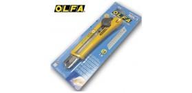 CUTTER TAGLIERINO METAL/PVC GRANDE C/BLOCCALAMA OLFA BLISTER