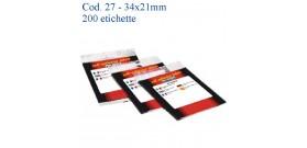 ETICHETTE ADESIVE BIANCHE 34x21mm (et.200) MARKIN