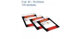 ETICHETTE ADESIVE BIANCHE 56x26mm(et.100) MARKIN