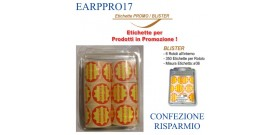 6 ROTOLI ETICHETTE AD.CONFEZIONE RISPARMIO°40(et.350x6)BLIST