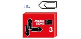 FERMAGLI METALLO LEONE N.3 30mm x100 x10