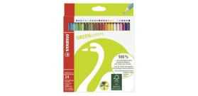 24 MATITE COLORATE STABILO GREEN COLORS °2,5mm®