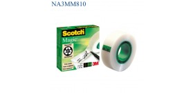 NASTRO ADESIVO 19mmx33mt MAGIC 810 3M SCOTCH INVISIBILE