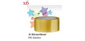 6 NASTRI ADESIVI 50mmx66mt TRASPARENTE SIL.PPL STARLINE